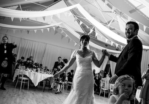 Eaten alive, rain, sun, and a car crash.   This is what makes a classic Tarbert wedding  (apparently)