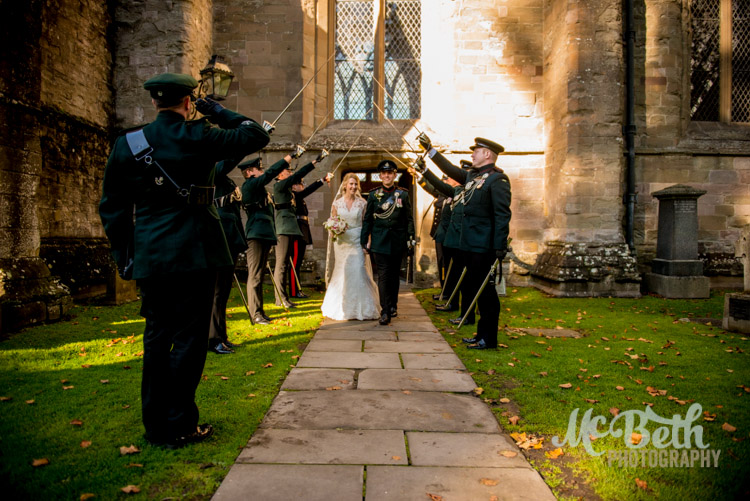 Sword arch at Dunkeld Cathedral