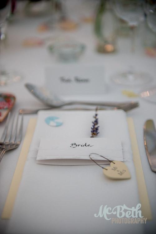 Beautiful table setting at Dunkeld Hilton wedding