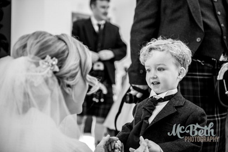 bride with pageboy