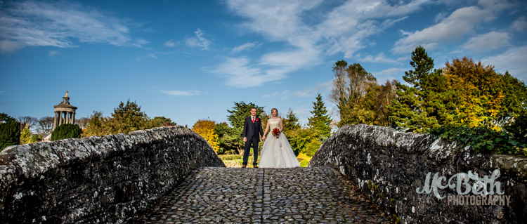 bride and groom at Brig O Doon house hotel wedding