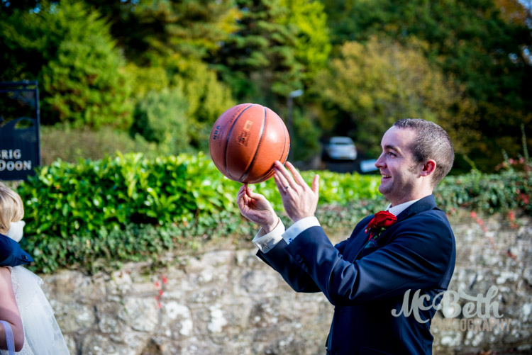 groom and basketball