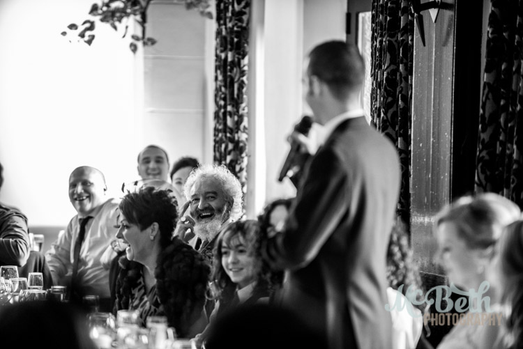 Wedding speaches at Brig O Doon house hotel