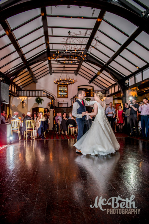 Wedding first dance at Brig O Doon house hotel