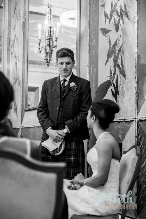 grooms speech at Edinburgh wedding