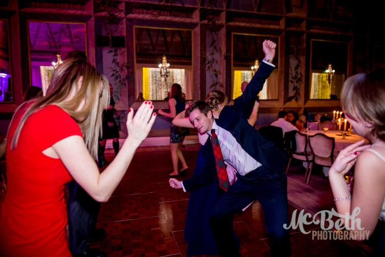 wedding guest dancing at edinburgh wedding