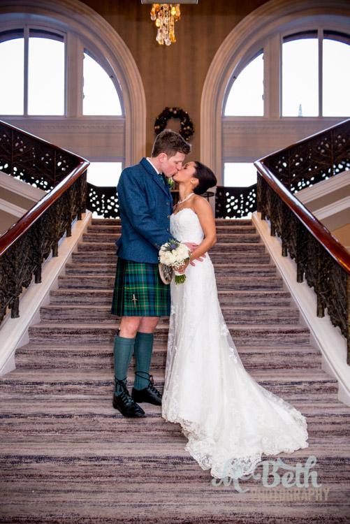 bride-groom-caledonian-stairway