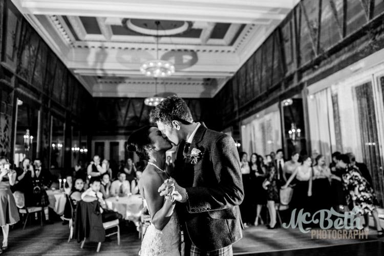 first dance at edinburgh wedding