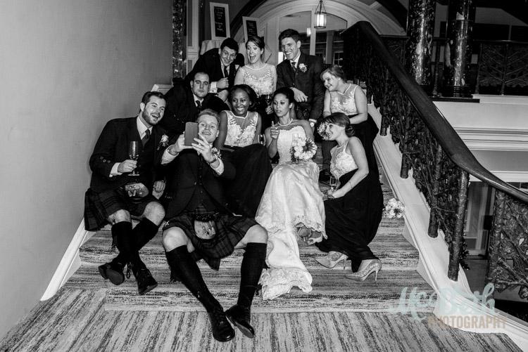 The ubiquitous wedding day selfie