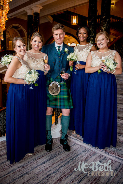 groom-bridesmaids-edinburgh-wedding