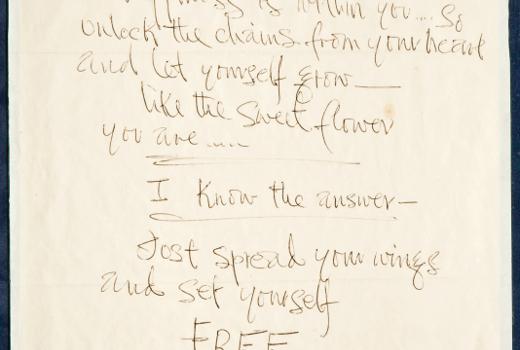 Jimmy Hendrix love letter