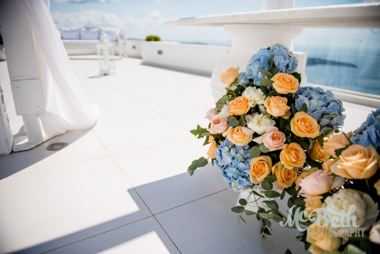 Santorini wedding photography Dana Villas