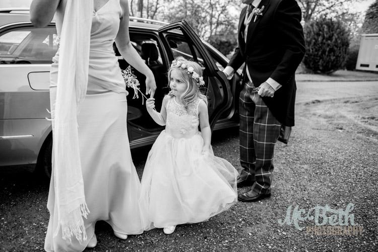 Scottish country wedding at Wedderburn Castle.