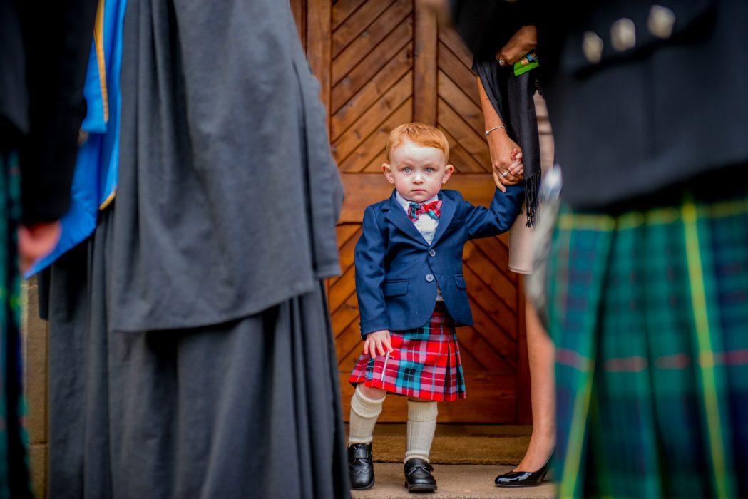 Candid scottish wedding photography