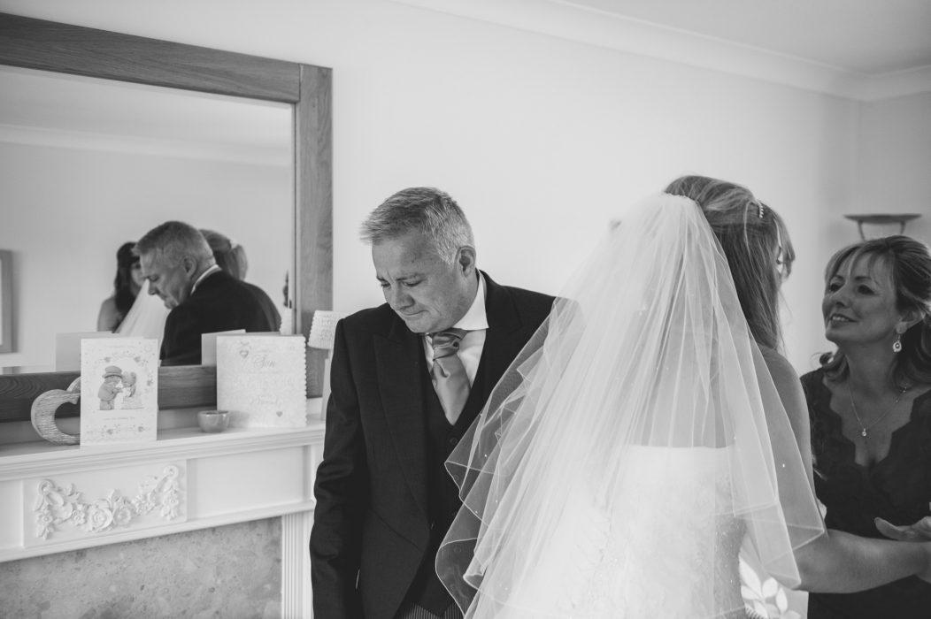 Crying Dad at Wedding