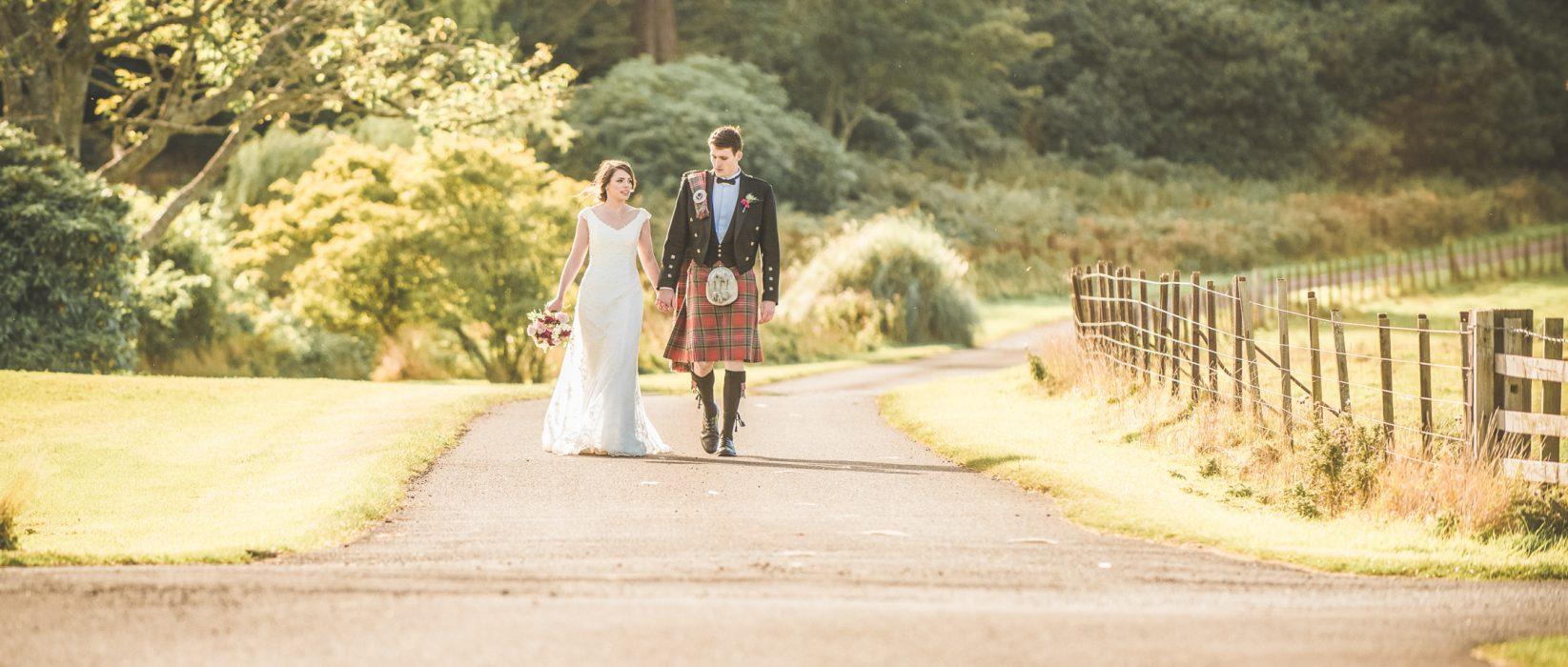 Wedding photography at Dunglass Estate