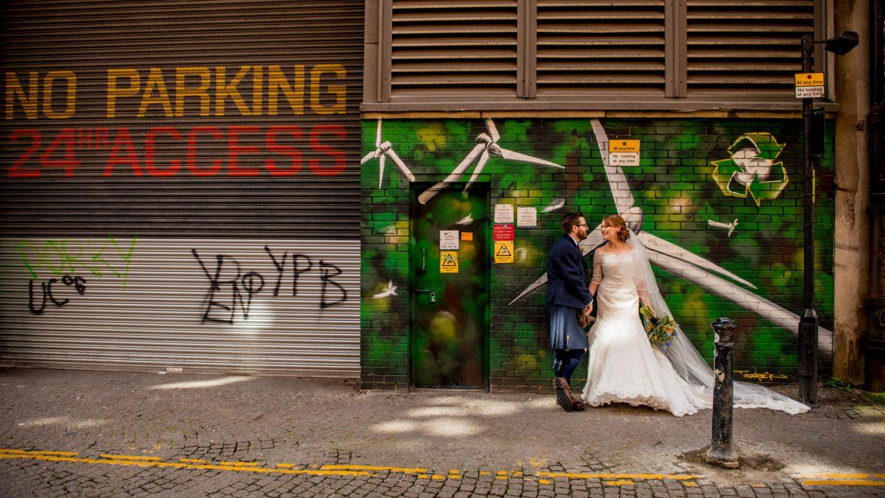 Modern Glasgow wedding photography